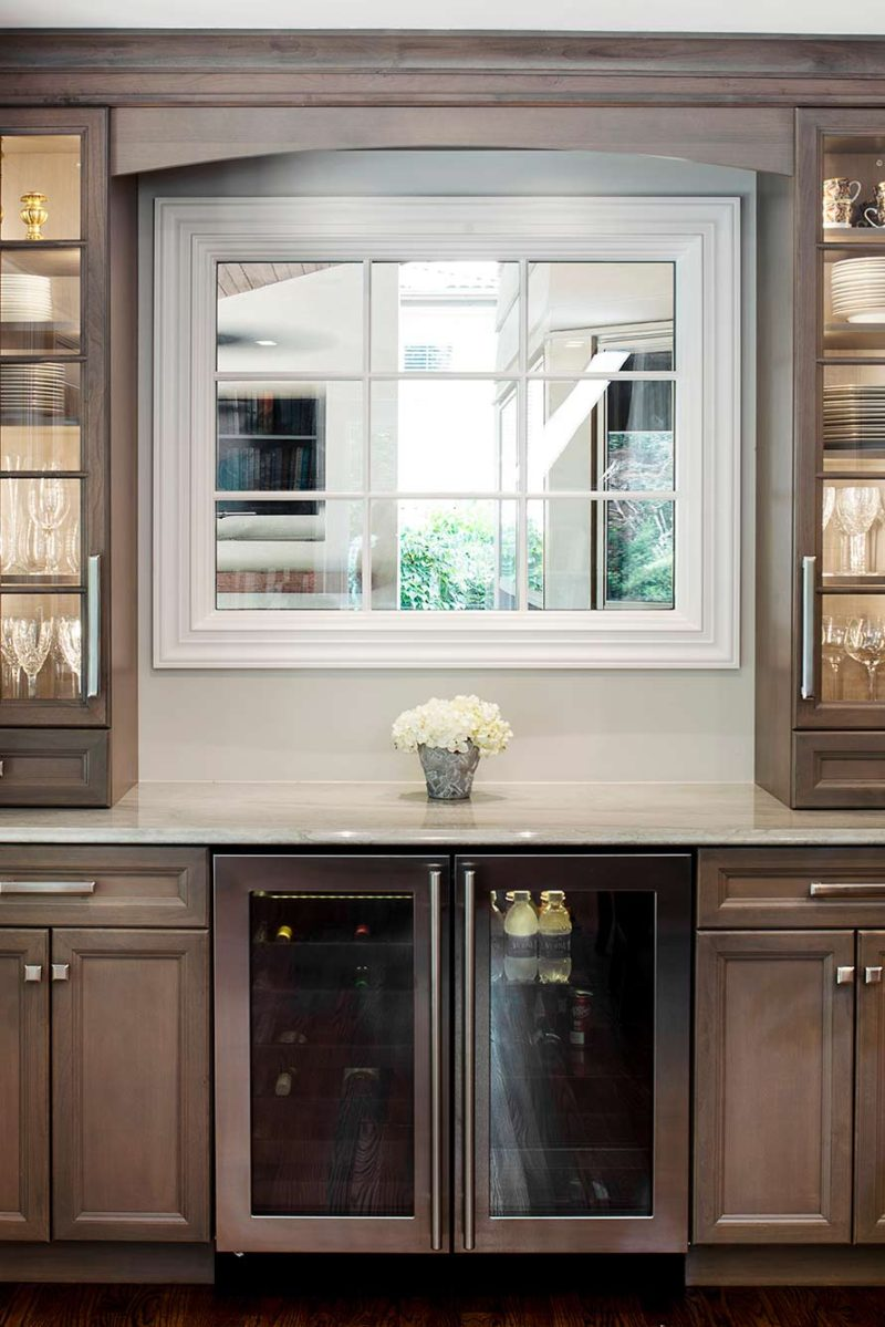 Cook, Eat, Watch 5 beautiful and functional kitchen with under counter beverage refrigeration and wall cabinet storage