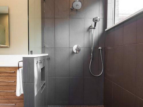 Beyond the Kitchen 1 slate grey tile contemporary shower